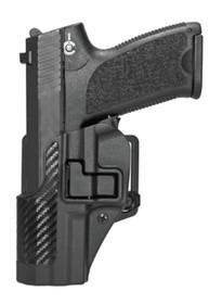 Blackhawk CQC Carbon Fiber Serpa Active Retention Holster Textured Black Left Hand For H&K USP Full Size