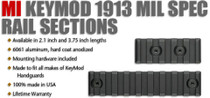 "Midwest Industries KeyMod 1913 MIL SPEC Rail Section 3.75"" Black"