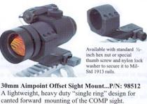 "Knights Armament 30mm Offset Mount, 1.57"" Height"