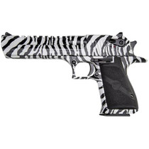 "Magnum Research Desert Eagle 50 AE Zebra Finish 6"" Barrel 7 Rd Mag"