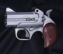 "Bond Arms Texas Defender 410/45LC 3"" 2rd Lam Rosewood Grip Satin SS"