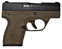 Beretta BU9 Nano 9mm 3.07 6+1/8+1 Flat Dark Earth Poly Grip/Frame Black