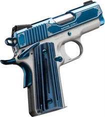 "Kimber Sapphire Ultra II 45 ACP, 3"", 8rd, Satin Silver/High Polish Bright Blue PVD"