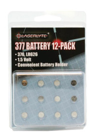 LaserLyte 377 Batteries, 12-PACK
