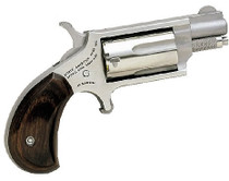 "NAA 22MS 22 Mag Mini Revolver 1.12"" 5rd Rosewood Grip Stainless"