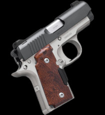 KIMBER MICRO 9 CDP Rosewood Checkered Grips