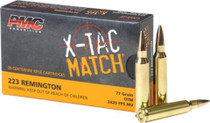 PMC Ammunition X-Tac Match Ammo.223 Rem 77 Grain Sierra Open Tip Match 20rd Box