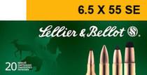 Sellier & Bellot 6.5mmX55mm Soft Point 131 gr, 20rd Box, 20 Box/Case