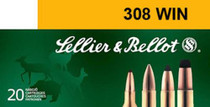 Sellier & Bellot 308 Winchester SPCE 150 gr, 20rd Box, 25 Box/Case