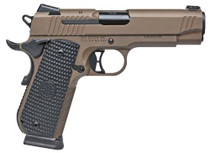 Sig 1911 45 ACP 4.2In Emperor Scorpion Flat Dark Earth SAO Siglite Black G10 Grip (2) 8RD Steel MAG Fastback Fastback