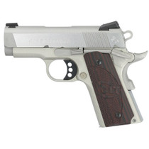 "Colt Defender 45 ACP SS, 3"" Barrel, Black Cherry G10 Grips, Stainless, 7rd"