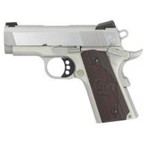 "Colt Defender 45 ACP SS, 3"" Barrel, Black Cherry G10 Grips, Stainless, 7rd"