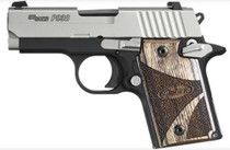 Sig P938 9MM 3IN Blackwood 2-Tone SAO Blackwood Grip (1) 6RD Steel MAG Ambi Safety