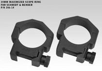 "Badger Ordnance 34mm Rings 1.0"" for Schmidt & Bender"