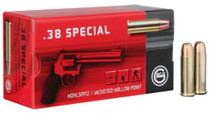 Geco .38 Special 158gr, Hollow Point, 50rd/Box