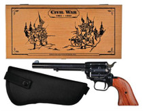 Heritage Rough Rider Kit, 22/22 Mag,, Wood Case & Holster