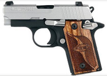 Sig P238 380 ACP 2.7In SAS 2-Tone SAO Siglite Walnut Grip (1) 6RD Steel MAG Dehorned SRT
