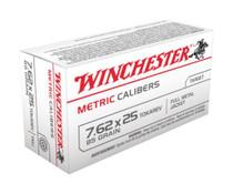 Winchester Metric 7.62mmX25mm Tokarev FMJ 85gr, 50Box/30Case