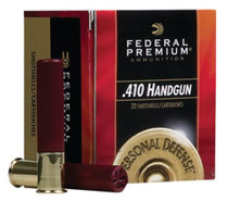 "Federal Premium Personal Defense Judge .410 Ga, 3"", 1100 FPS, 9 Pellet No. 4 Buck, 20rd Box"