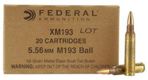 Federal Lake City Arsenal 5.56mm 55 Grain Metal Clad Boattail Mil-Spec 20rd Box