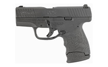 "Walther PPS M2 9mm, 3.2"" Barrel, 3-Dot Adj. Rear, Black Tenifer, 7rd Mag"