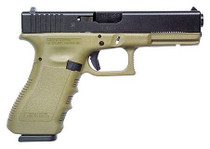 Glock 17 9mm, Fixed Sights, Olive Drab, 17rd Mags