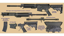 "WIndham AR-15 MULTI- CALIBER Kit 5.56 & 300 Blackout 16"" Barrel, 30 rd Mag With Case"