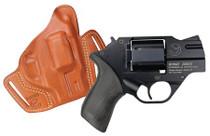 "Chiappa MKS Rhino 357 Magnum/38 Special 2"" Barrel 6rd Black Rubber Grip Black"