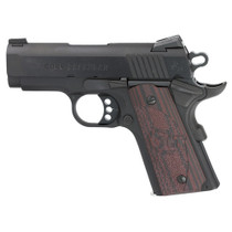"Colt Defender, Compact 1911, 9MM, 3"" Barrel, Alloy Frame, Blue Finish, G10 Grips, 8Rd Mag, Novak Night Sights"