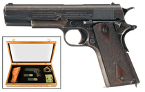 "Remington 100th Anniversary of WWI UMC Commemorative 1911 45 ACP 5"" Barrel, Wooden Glass-Top Presentation Case"