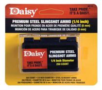"""Daisy Powerline Steel Slingshot Ammo, 1/4"""" Steel Shot, 250 Per Box"""