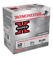 Winchester Super-X Field Trial 12 Ga Smokeless Blanks, POP LD, 25rd/Box