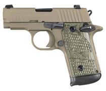 Sig P238 Scorpion 380 ACP Tan, G10 Hogue Piranha Grips, Ambi Safety, Night Sights