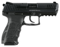 HK P30 (V3) DA/SA, rear decocking button, three 15rd magazines and night sights
