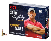 CCI Troy Landry Signature Series Mini-Mag 22LR 36gr, Copper Plated Hollow Point, 300rd/Box