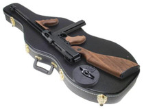 "Auto Ordnance Thompson Model 1927-A1 Deluxe 45 ACP, 16.5"" Barrel, Blued, Walnut Stock, 50rd Drum, 30rd Stick Mags, Violin Case"