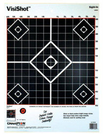 "Champion Visishot 13x18"" Sight-In Target, 10/Pack"