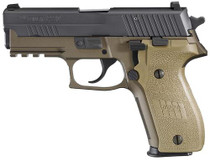 Sig P229 9MM 3.9In Combat 2-Tone Flat Dark Earth Da/Sa Siglite Flat Dark Earth Polymer Grip (2) 15Rd Steel MAG Phos.