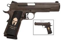 Sig 1911 45 ACP 5IN Spartan ORB SAO Siglite Spartan Grip (2) 8RD Steel MAG