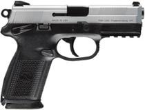 "FN FNX-40 DA/SA 40S&W 4"" Barrel, 3 Mags Checkered Black Poly Grip/SS, 14rd"