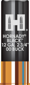 "Hornady Black 12 Ga, 2.75"", Buckshot, 8 Pellets, 00 Buck, 10rd/Box"