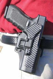 Blackhawk CQC Serpa Holster, For Glock 26/27, Carbon Fiber, Left Handed