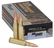 Sig Ammo .308 Win, 175Gr, Elite Match Grade, OTM, 20rd/Box