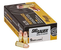 Sig 9mm, 124Gr, Elite Ball, FMJ, 50rd/Box