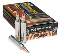 Sig Ammo, 223 Rem, 60Gr, Elite Hunting HT, 20rd/Box
