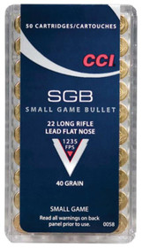 CCI 22LR Small Game Bullet 40GR Lead Flat Nose 500rd Brick