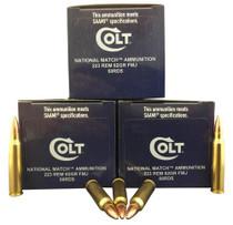 Colt National Match 223 Rem/5.56 NATO 62gr, FMJ, 50rd Box