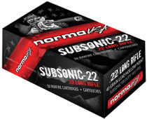 Norma Subsonic 22 LR 40gr, Hollow Point High Performance Target 50rd Box.