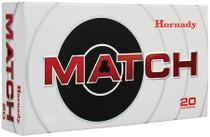 Hornady ELD Match Ammunition 6mm Creedmoor 108gr, 20 Bx