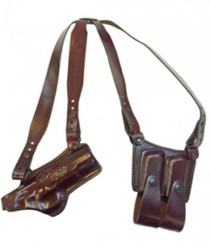 Kimber 5 Shoulder rig with Kimber logo right hand brown by Mitch Rosen